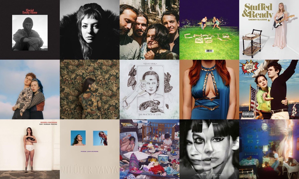 Grid showing covers of my favourite albums of 2019