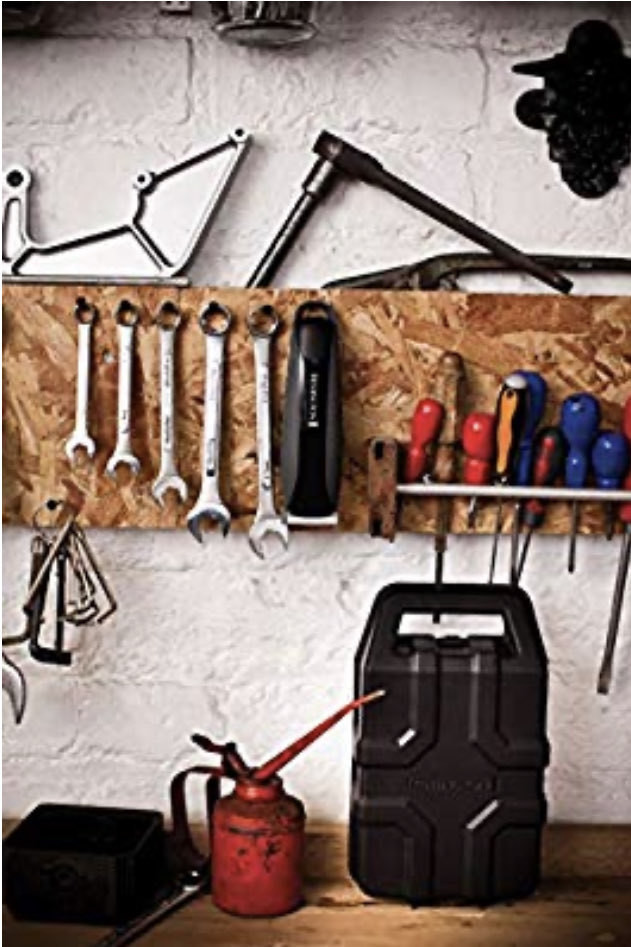 Workbench with tools and a hair clipper